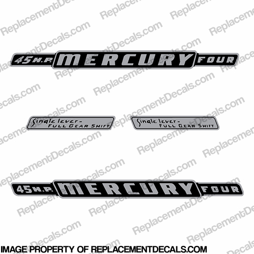 Mercury 1962 45HP Outboard Engine Decals