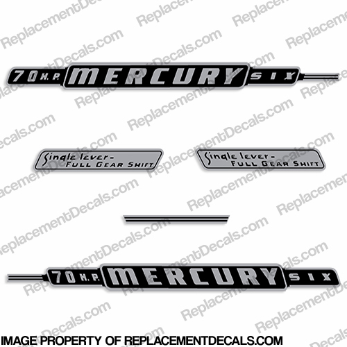 Mercury 1962 70HP Outboard Engine Decals