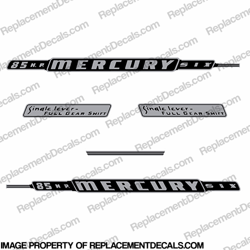 Mercury 1962 85HP Outboard Engine Decals