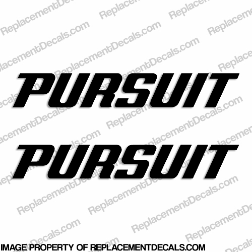Pursuit Boat Logo Decal - Any Color!