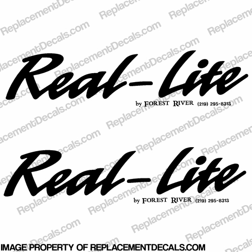 Real-Lite by Forest River RV Decals (Set of 2) - Any Color!