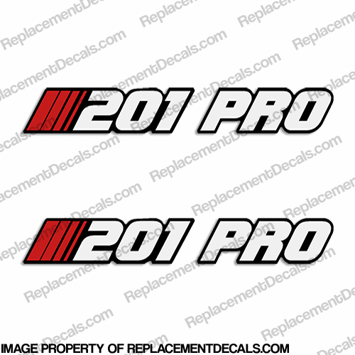 "Stratos ""201-PRO"" Decal - Older Style (Set of 2)"