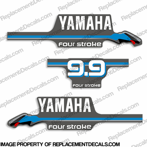 Yamaha 9.9hp Fourstroke Decals - 2000 Style