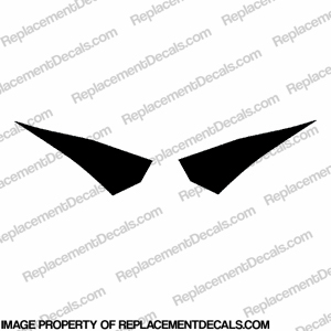 1000RR Tank Wings - Black