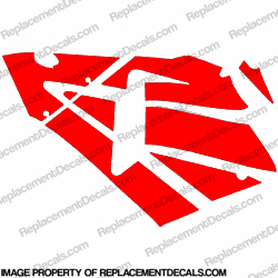 600RR Left Fairing Decals (Red)