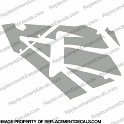 600RR Left Fairing Decals (Silver)