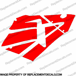 600RR Right Fairing Decals (Red)