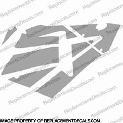 600RR Right Fairing Decals (Silver)