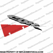 "929 Left Upper ""CBR"" Decal (White/Red)"