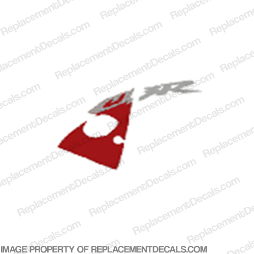 "954 Left Upper Fairing ""CBR"" Decal (Red/Silver)"