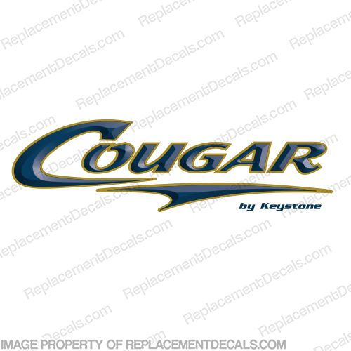 Cougar by Keystone RV Decals Navy/Tan  Cougar, Navy, tan, RV, Trailer, camper, 5th, wheel, caravan