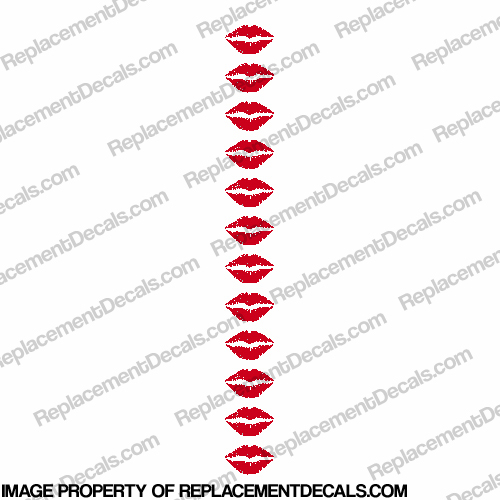 Lips Decal (set of 12)
