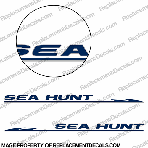 Sea Hunt Boat Decals - 2 Color! seahunt