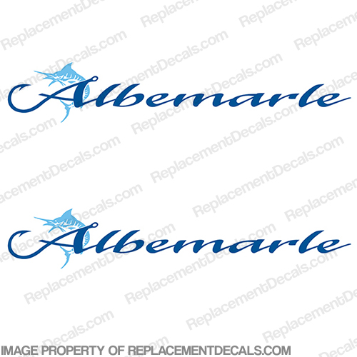 Albemarle Boat Logo Decals - Set of 2