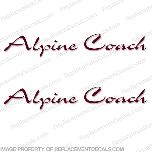 Alpine Coach RV Logo Decals - (Set of 2) Any Color!
