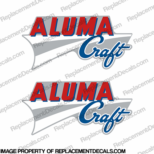 Alumacraft Boat Logo Decals - Style 2 (Set of 2) aluma craft