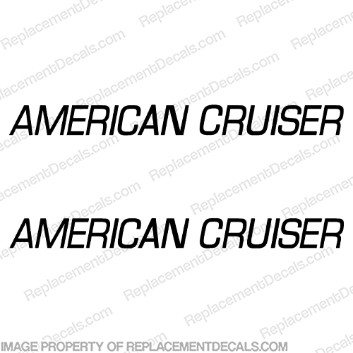 American Cruiser RV Decals - Any Color! american, cruiser, rv, conversion, van, sticker, label, logo, decal, kit, set, marking, recreational, vehicle, camper, caravan
