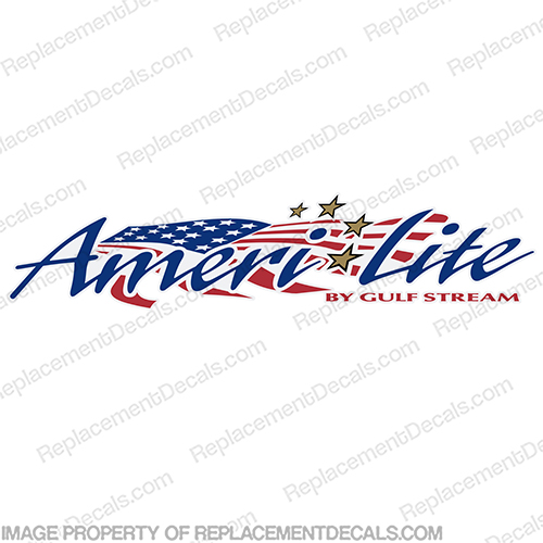 Amerilite by Gulfstream RV Decal ameri-lite, ameri, lite, gulf, stream