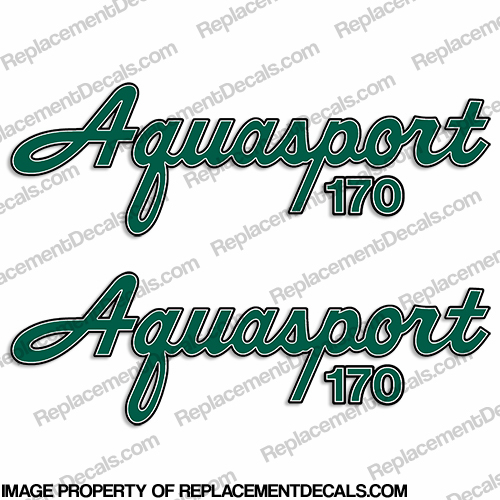Aquasport 170 Boat Decals (Set of 2) - Any Color