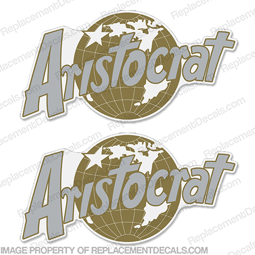 Aristocrat Globe RV Decal Kit (Set of 2) recreational vehicle decals