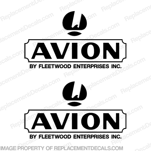 Avion by Fleetwood RV Logo Decals (Set of 2) Any Color!