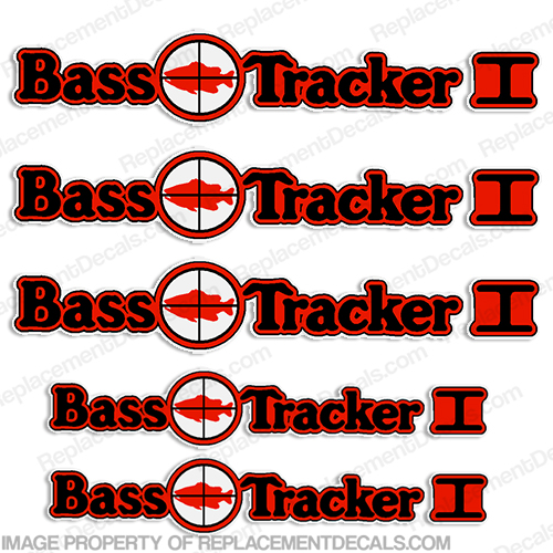 Bass Tracker I Target Boat Decal Package (With Trailer Decals)