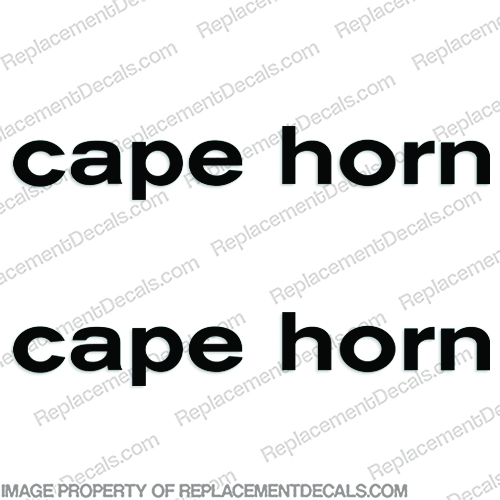Cape Horn Boat Logo Decals (set of 2) - Any Color! - Style 3 cape-horn, capehorn