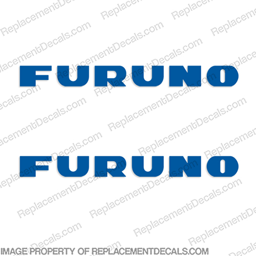 Furuno Boat Electronics Logo Decal - Any Color (Set of 2)  furuno, dome, boat, marine, electronic, electronics, radar, label, decal, sticker, stickers, decals, labels