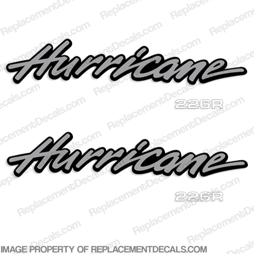 Hurricane 226R Fun Deck by Godfrey Marine 1999 Boat Logo Decals 226 r, 226-r