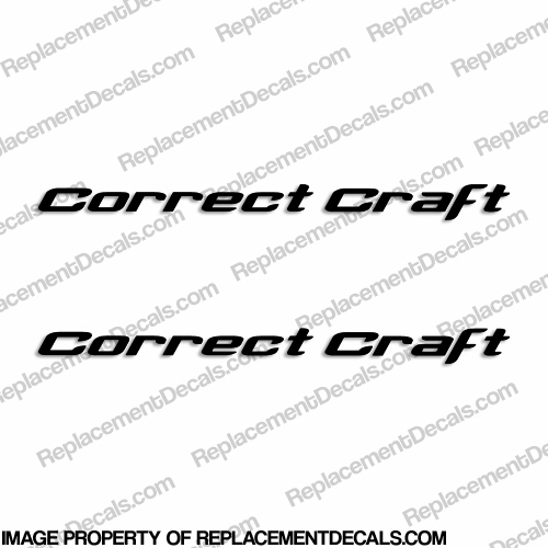 Correct Craft Boat Decals - (Set of 2) Any Color!