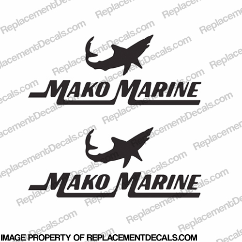 Mako Marine Boat Decals - (Set of 2) Any Color! - Style 2