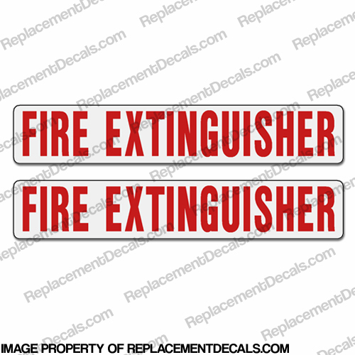 Boat Label Decals - Fire Extinguisher (Set of 2)