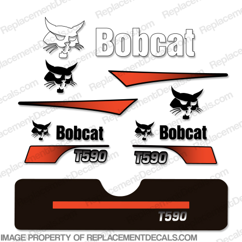 Bobcat T-590 Skid Steer Decals
