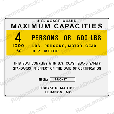 Tracker Marine Pro 17 - 4 Person