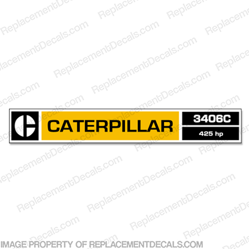 Caterpillar 3406C Diesel Engine Decal