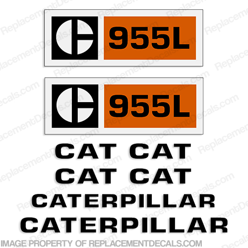 Caterpillar 955L Track Loader Decal Kit