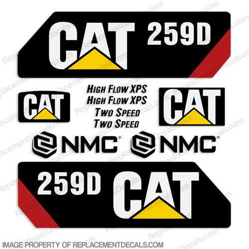 Caterpillar 259D Decal Kit
