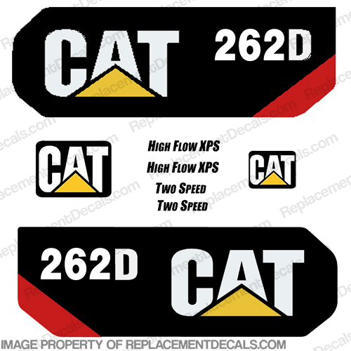 Caterpillar 262D 2014+ Decal Kit