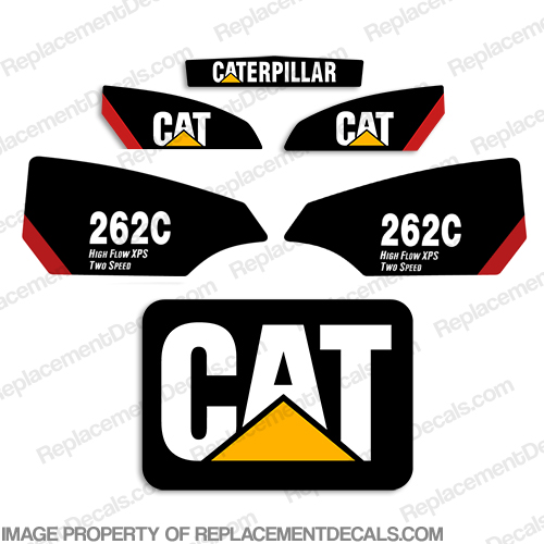 Caterpillar 262C Skid Steer Decals - CAT-262C-SKID
