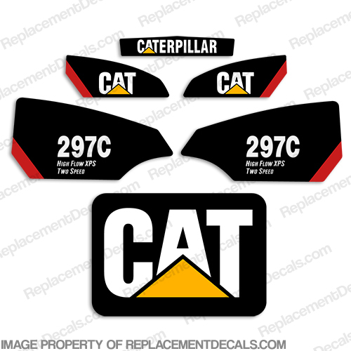 Caterpillar 297C Skid Steer Decals