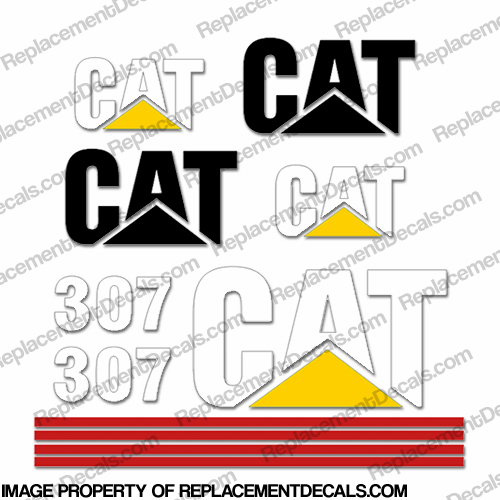 Caterpillar 307 Excavator Decals