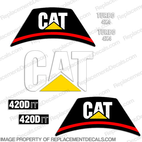 Caterpillar Backhoe 420D IT Decal Kit