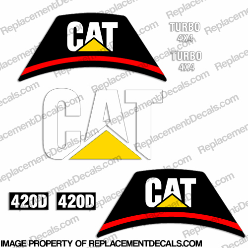 Caterpillar Backhoe 420D Decal Kit