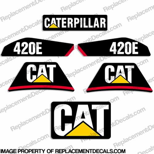 Caterpillar Backhoe 420E Decal Kit