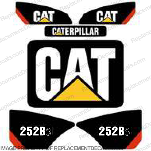 Caterpillar 252B-3 Skid Steer Decal Kit cat, 252-b3, 252 b3