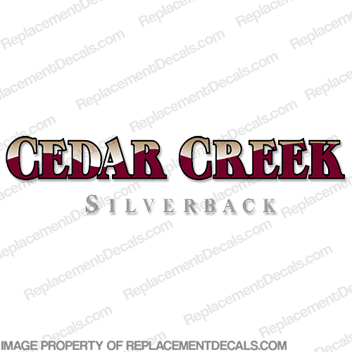 Cedar Creek Silverback RV Decals - Burgundy/Tan