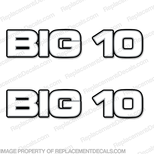 "Chevy ""Big 10"" Logo Decals (Set of 2) chevrolet"