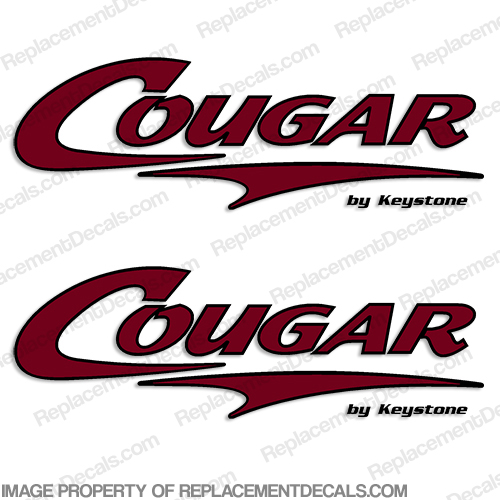 Cougar by Keystone RV Decals (Set of 2) - 2 Color