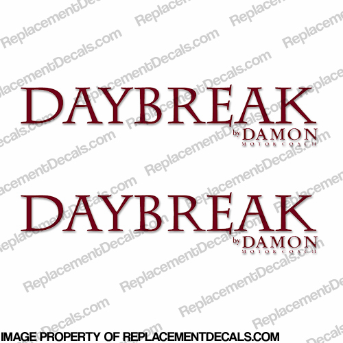 Daybreak by Damon RV Decals (Set of 2) - Any Color!