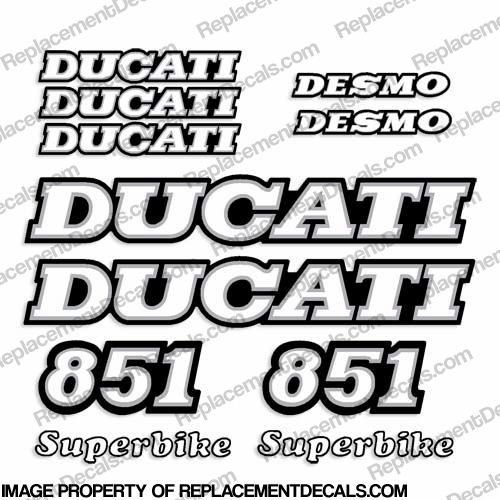 Ducati 851 Decal Kit - 1989-1990